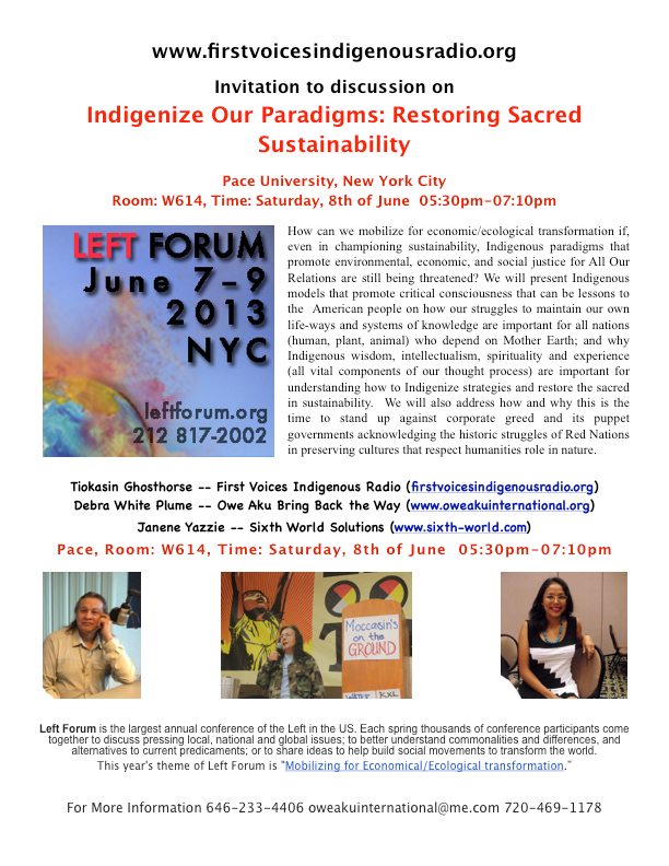 Indigenize Our Paradigms Restoring Sacred Sustainability